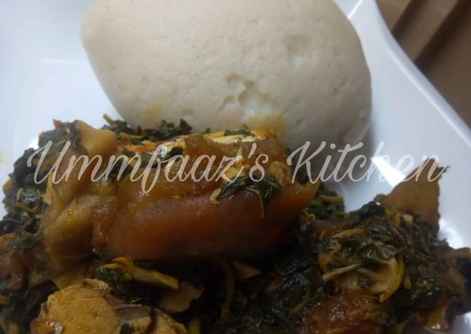 Tuwo and eforiro soup