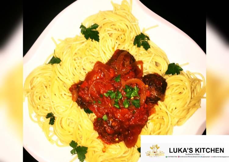 Easy Homemade Spaghetti and meatball sauce