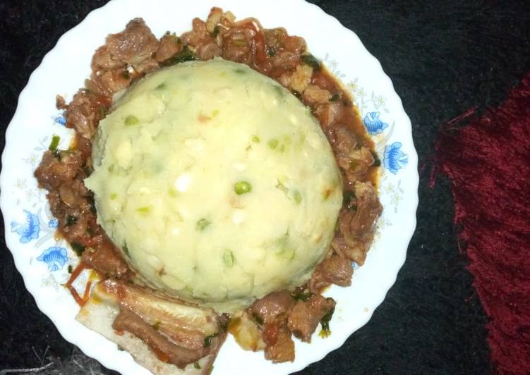 Use Food to Improve Your Mood Mukimo/ beef stew
