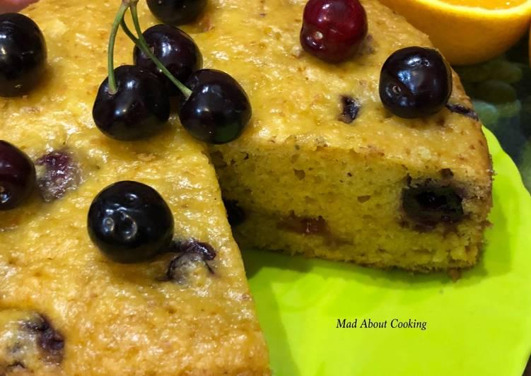 Recipe of Any-night-of-the-week Eggless Cherry Orange Cake – Using Boiled Orange