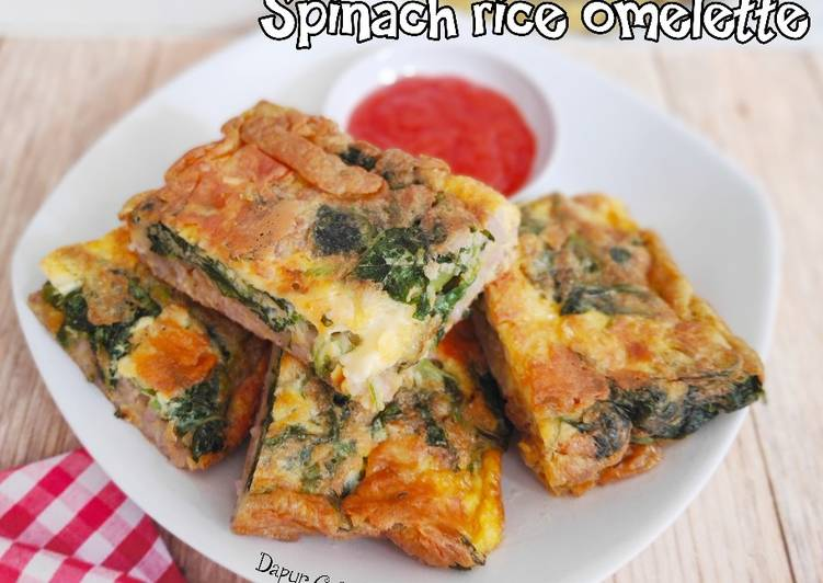 Spinach rice omelette