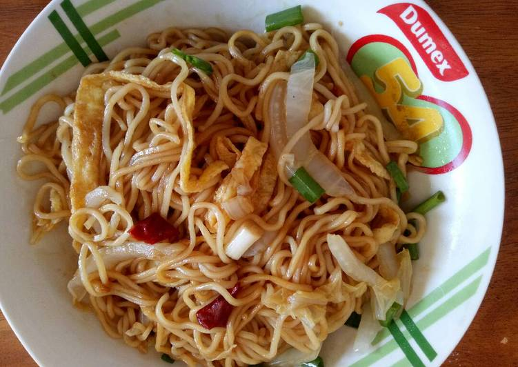Lagman,noodle and vegetables