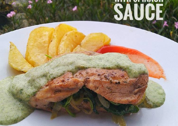 Chicken Stuffed with Spinach Sauce