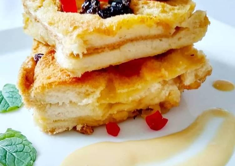 Puding Roti Bersama Sos Kastard - velavinkabakery.com