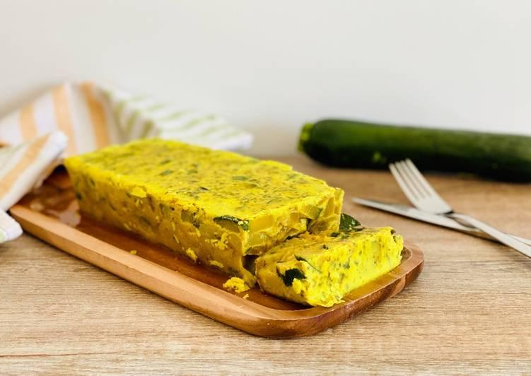 Recette Appétissante Flan vegan courgette curry-coco