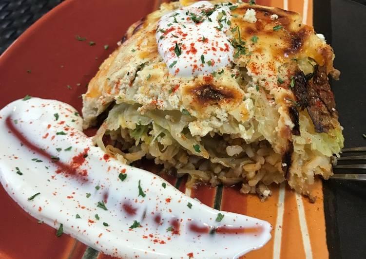 Recipe of Award-winning Layered savory cabbage casserole 🥘