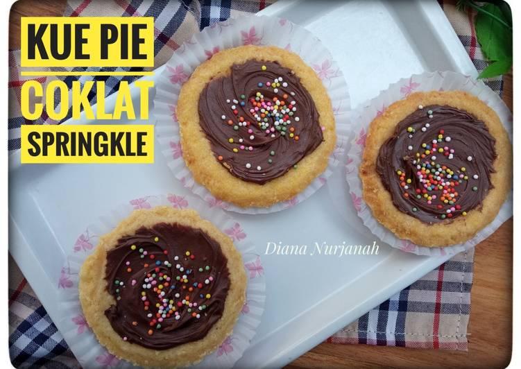 Resep Kue Pie Coklat Springkle, Lezat
