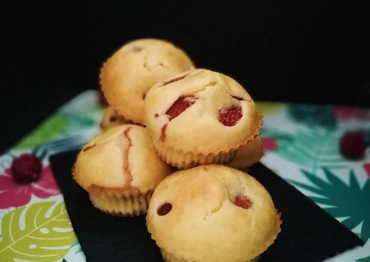 Muffins fraise / amande
