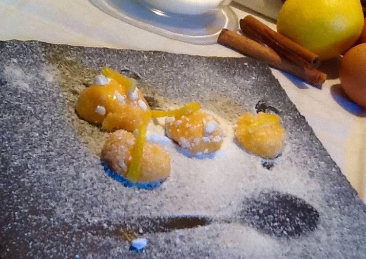 Yemas de Ávila con aroma de canela y limón
