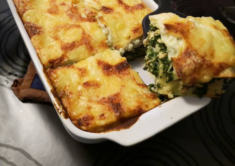 Des lasagnes saumon colin et épinards