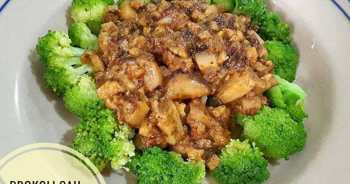 Brokoli Cah Jamur Vegetarian / Vegan