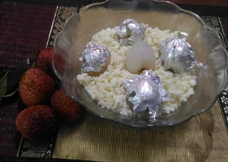 Almond stuff lychee