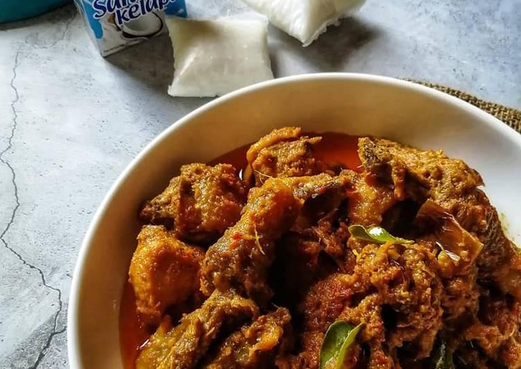 Rendang Pedas Ayam Tua - resepipouler.com