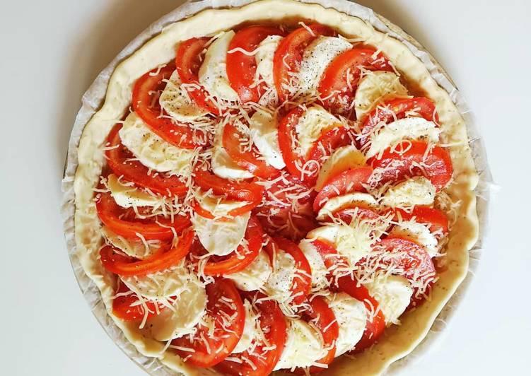 Tarte à la tomate/mozzarella