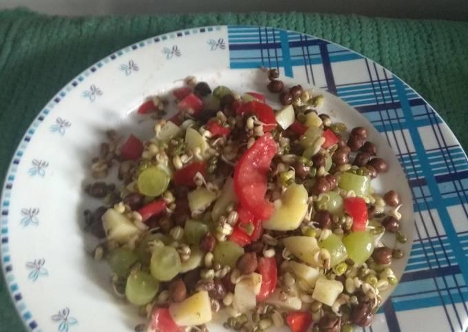 Healthy sprouts salad