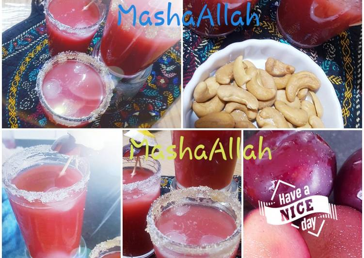 Easiest Way to Prepare Top-Rated Plum, grape and citrus rind juice