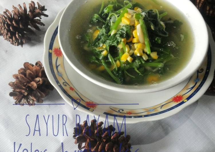 Resep Sayur Bayam Kelor Bumbu Iris Paling Mudah