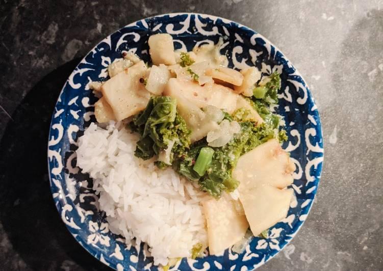 Simple Way to Prepare Favorite Celeriac & Kale Coconut Curry