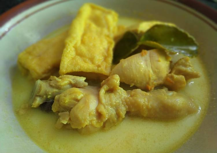 Opor Ayam Tahu Non MSG