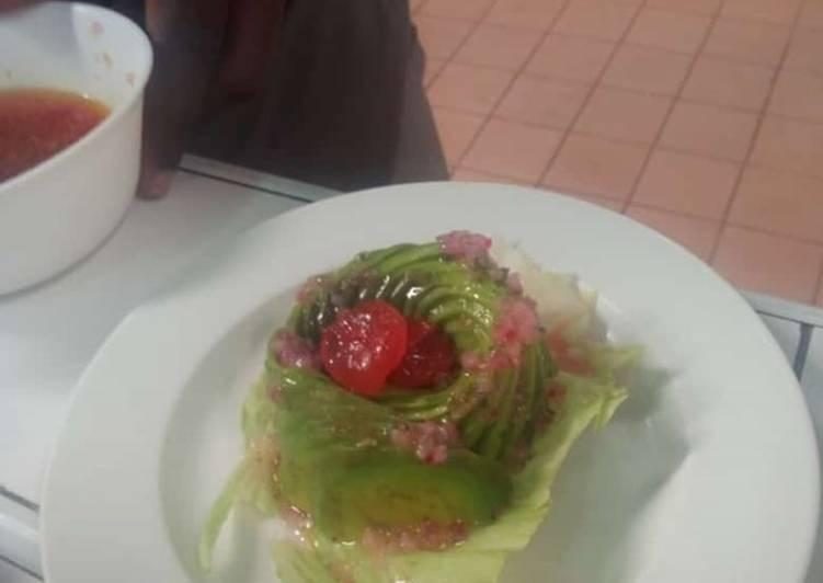 How to Prepare Avocado 'vinaigrette salad ' Super Quick Homemade