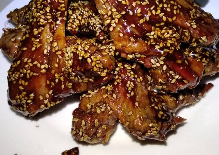 Teriyaki baked chicken wings#4wkschallenge