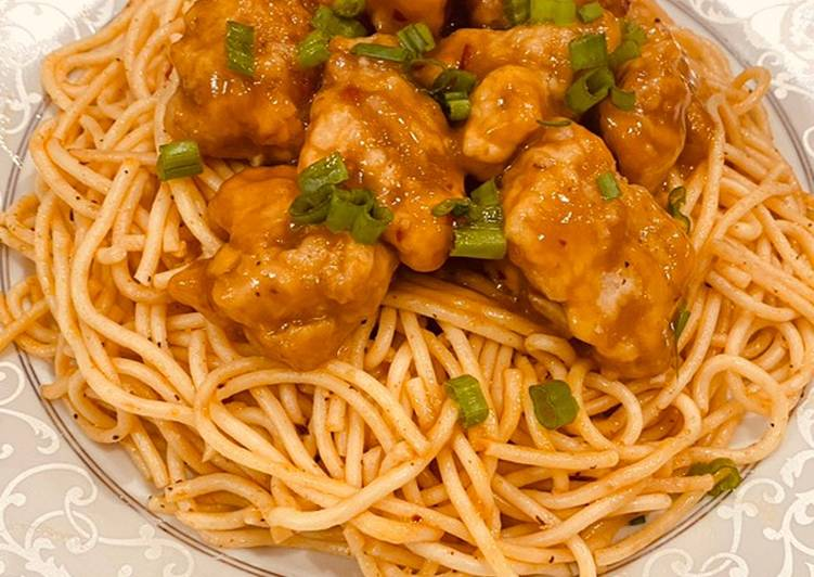 Absolutely Ultimate Dinner Ideas Autumn Orange Chicken with spicy spaghetti