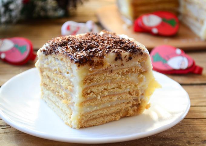 Торт из печенья без выпечки основное фото рецепта