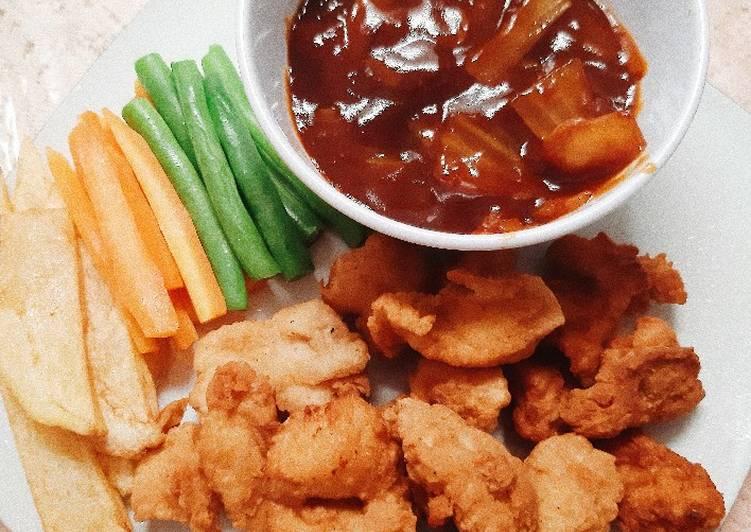 Resep Bistik ayam crispy Anti Gagal