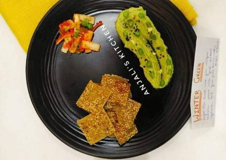 How to Prepare Perfect Green chickpeas hummus with bajra pita bread