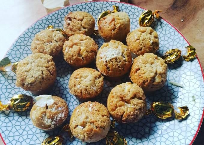 Muffins au café et chocolat blanc