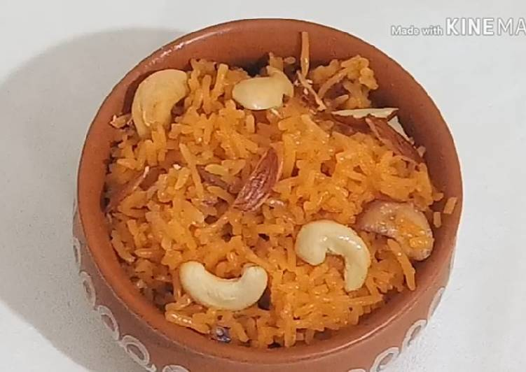 Zarda Pulao Recipe Basant panchami Special Kesariya bhat