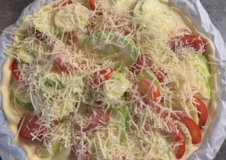 Quiche tomates courgettes