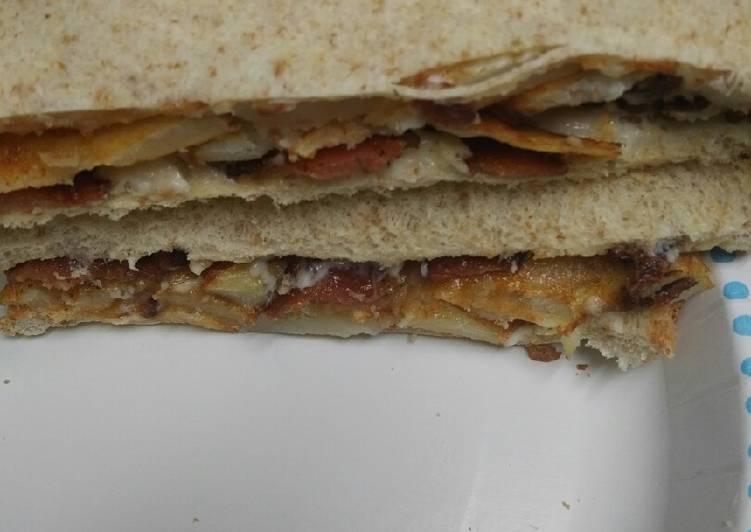Bacon and Potato Sandwich
