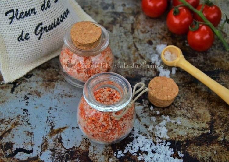 Sel aromatisé aux peaux de tomate