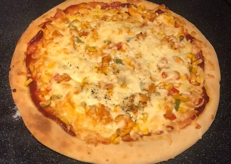 Steps to Prepare Ultimate Chicken tikka pizza