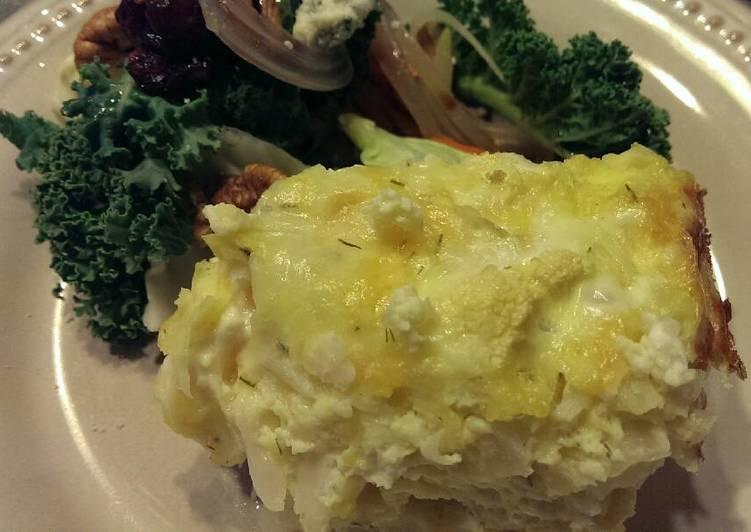 Recipe of Any-night-of-the-week Crustless Cauliflower Quiche