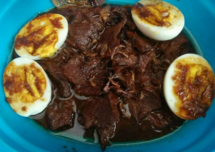 Semur Telur Daging Enak,Mudah, Praktis