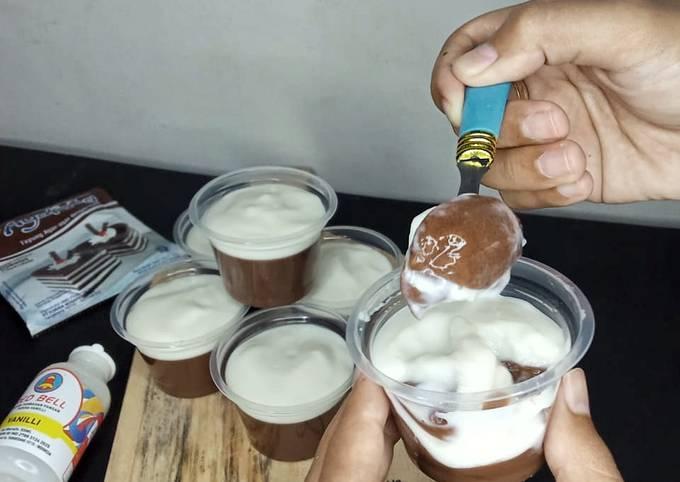 Pudding coklat kfc