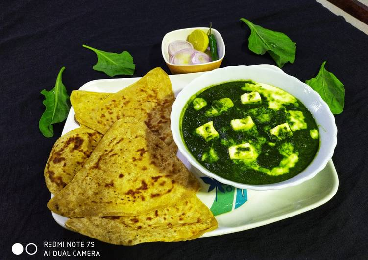 Palak Paneer with Paratha