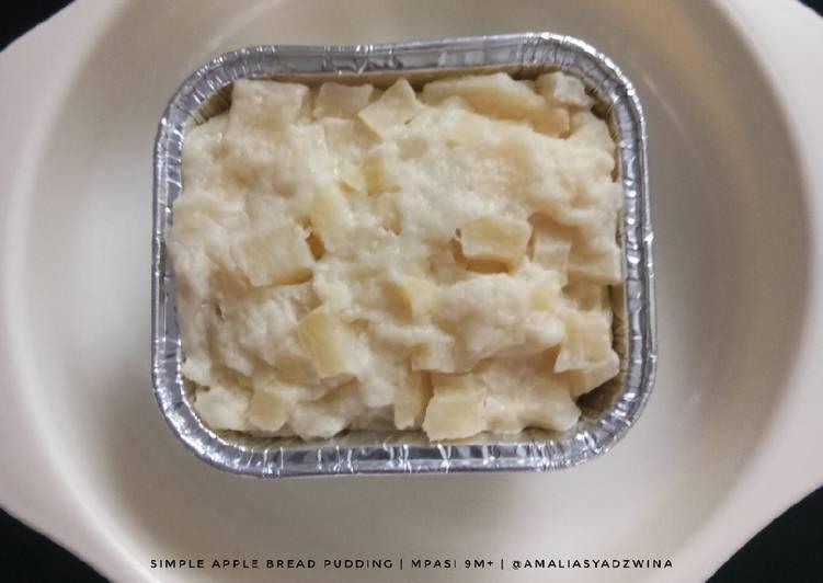 Simple Apple Bread Pudding (MPASI 9M+)