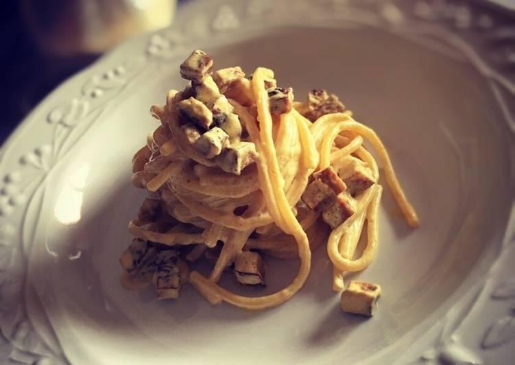 Spaghetti alla carbonara veg