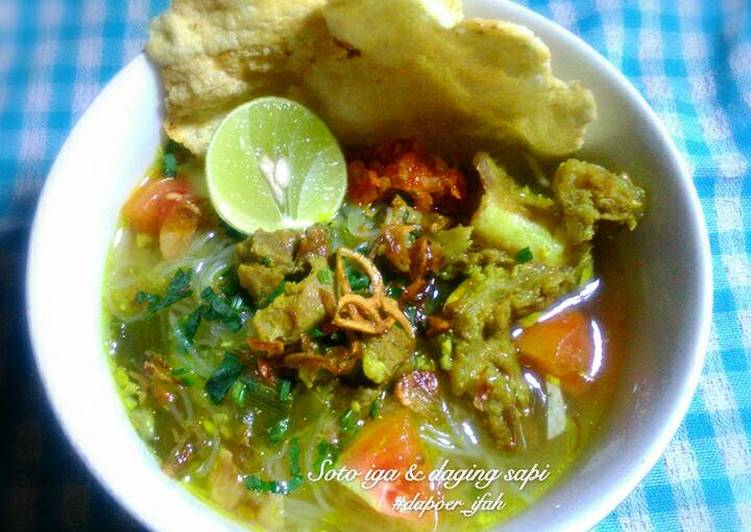 Resep Soto Iga Daging Sapi Kuah Bening Oleh Dish By Ifah Cookpad