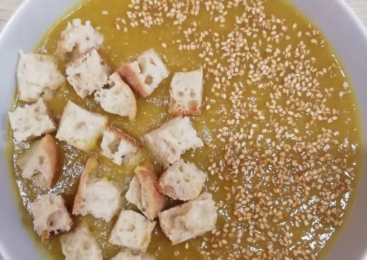 Soupe butternut /courgettes jaune 😋
