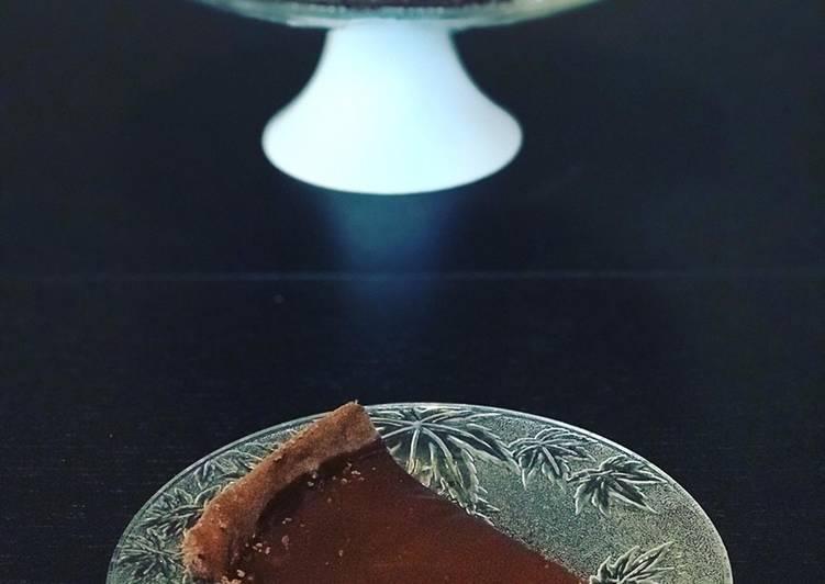 Tarte au chocolat caramel beurre salé