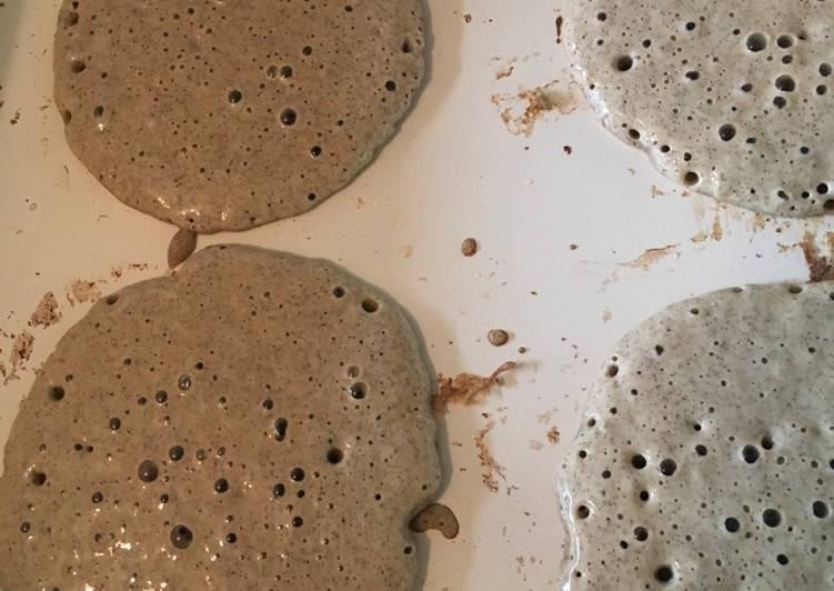Buckwheat pancakes raised