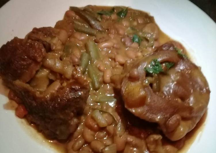 Step-by-Step Guide to Prepare Ultimate Brown beans with cow heels