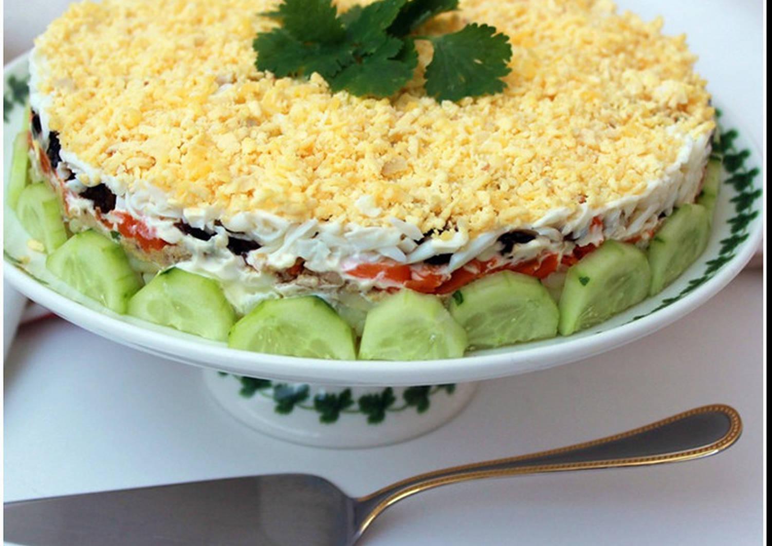 салат на праздник рецепт с фото рамок