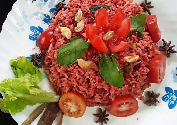 Healthy Beetroot fried rice