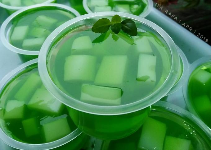 Puding Sirup Melon