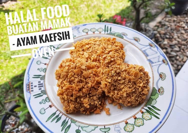 Ayam KAEFSIH oven / ayam geprek Simple enak no minyak SEHAT